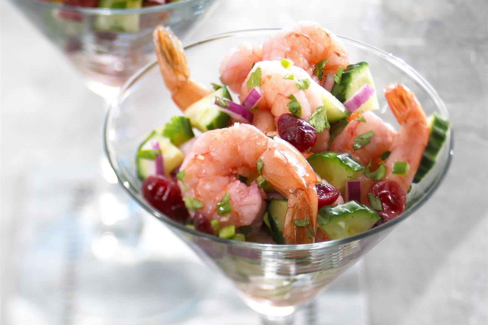 Blushing Shrimp Ceviche