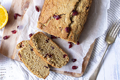Vegan Cranberry & Orange Loaf