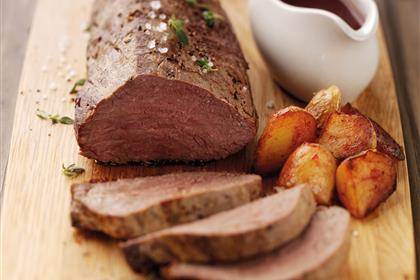 Roast Beef Tenderloin with Cranberry-Red Wine Sauce