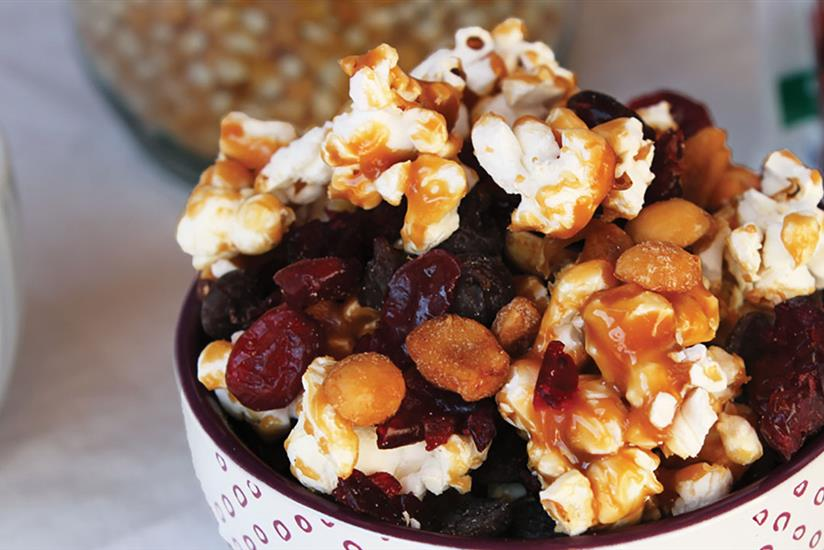 Caramel Corn & Craisins® Dried Cranberries Snack Mix