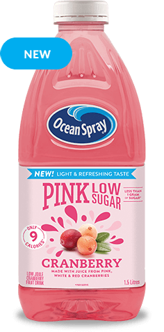Low Sugar Pink Cranberry Fruit Drink