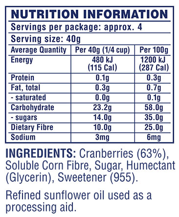Craisins® 50% Less Sugar Dried Cranberries
