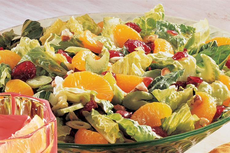 Quick Mandarin Cranberry Salad