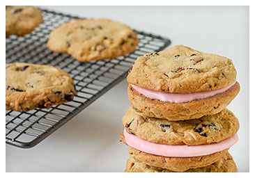 Cranberry and White Chocolate Sandwich Cookies