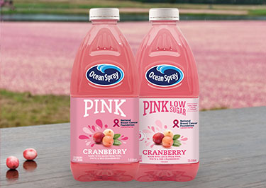 Pink Cranberry Fruit Drinks