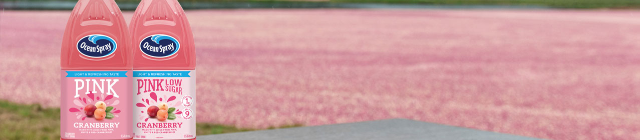 Pink Cranberry Fruit Drinks