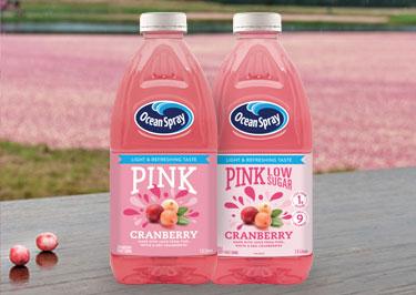 Pink Fruit Drinks