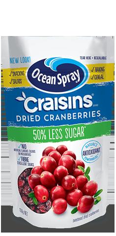 Craisins® 50% Less Sugar Dried Cranberries