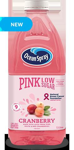 Low Sugar Pink Cranberry Fruit Drink